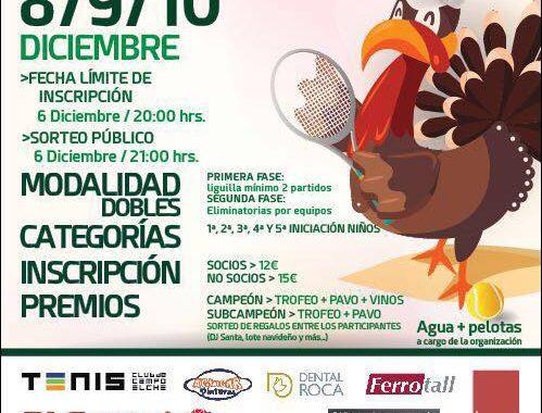 """XXII Edición Torneo de tenis de Dobles """"El Pavo"""""""