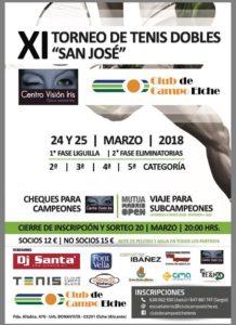 "XI Torneo de tenis dobles ""San José"""